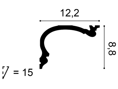 Listwa sufitowa C341